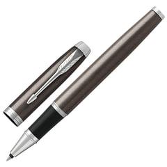 Ручка-роллер PARKER «IM Core Dark Espresso CT», кофейный лак с круговой полировкой, хромированные детали, черная, 1931664
