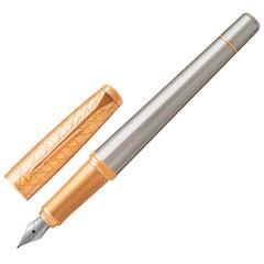 Ручка перьевая PARKER «Urban Premium Aureate Powder GT», серебристый анодированный алюминий, позолота, синяя, 1931571