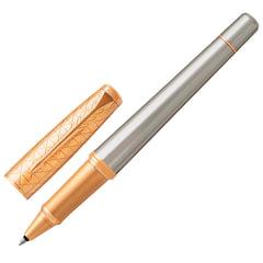 Ручка-роллер PARKER «Urban Premium Aureate Powder GT», серебристый анодированный алюминий, позолоченные детали, черная, 1931574