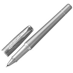 Ручка-роллер PARKER «Urban Premium Silvered Powder CT», латунь с серым PVD-напылением, хромированные детали, черная, 1931586