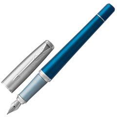 Ручка подарочная перьевая PARKER «Urban Premium Dark Blue CT», темно-синий корпус, хромированные детали, синяя, 1931563
