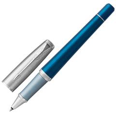 Ручка-роллер PARKER «Urban Premium Dark Blue CT», темно-синий анодированный алюминий, хромированные детали, черная, 1931566