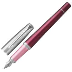 Ручка подарочная перьевая PARKER «Urban Premium Dark Purple CT», темно-пурпурный корпус, хромированные детали, синяя, 1931567