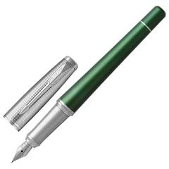 Ручка перьевая PARKER «Urban Premium Green CT», зеленый анодированный алюминий, хром, синяя, 1931617