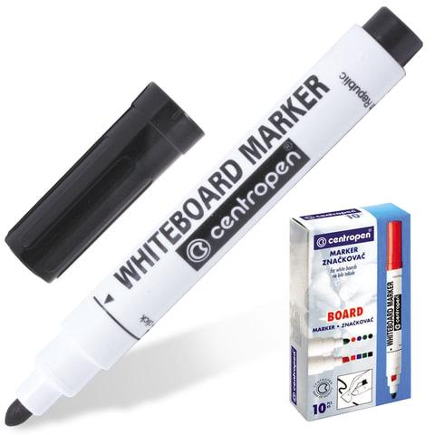 Маркер для доски CENTROPEN, круглый, ширина линии 2,5 мм, черный