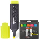 Текстмаркеры LACO (Германия), набор 5 шт., 1-5 мм, (желтый, зеленый, оранжевый, розовый, синий)