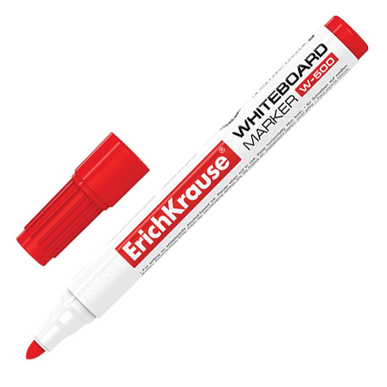 """Анонс-изображение товара маркер для доски erich krause """"w500"""", круглый наконечник 2,5мм, красный, 12847"""