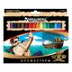 Фломастеры BRAUBERG (БРАУБЕРГ) «Корсары», 18 цветов, вентилируемый колпачок, картонная упаковка с золотистым тиснением