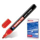 Маркер лаковый EDDING, 2-4 мм, круглый наконечник, пластиковый корпус, красный