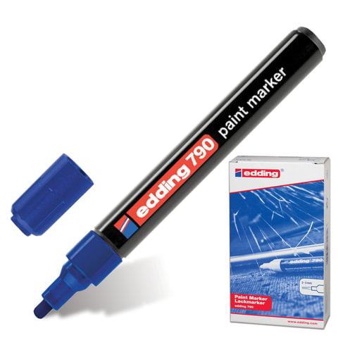 Маркер лаковый EDDING, 2-4 мм, круглый наконечник, пластиковый корпус, синий