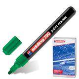 Маркер лаковый EDDING, 2-4 мм, круглый наконечник, пластиковый корпус, зеленый