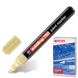 Маркер лаковый EDDING, 2-4 мм, круглый наконечник, пластиковый корпус, золотой