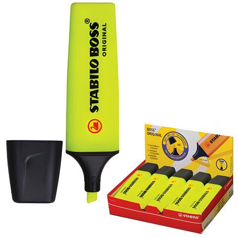 Текстмаркер STABILO «Boss», скошенный наконечник 2-5 мм, желтый