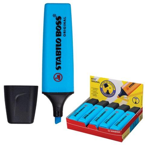 Текстмаркер STABILO «Boss», скошенный наконечник 2-5 мм, синий