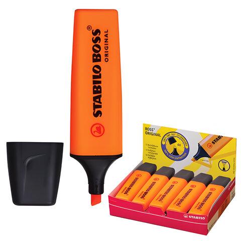 Текстмаркер STABILO «Boss», скошенный наконечник 2-5 мм, оранжевый