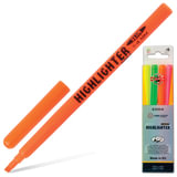 Текстмаркеры KOH-I-NOOR, набор 4 шт., скошенный наконечник 1-4 мм (желтый, оранжевый, зеленый, розовый)