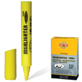 Текстмаркер KOH-I-NOOR, скошенный наконечник 1-5 мм, желтый