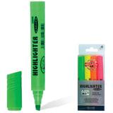 Текстмаркеры KOH-I-NOOR, набор 4 шт., скошенный наконечник 1-5 мм (желтый, оранжевый, зеленый, розовый)