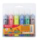 Фломастеры утолщенные BRAUBERG (БРАУБЕРГ), 6 цветов, вентилируемый колпачок, наконечник конус, 1,5-10 мм, пластиковая упаковка