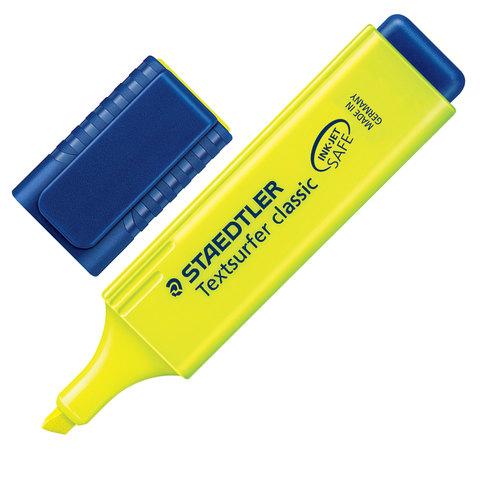 "Текстмаркер STAEDTLER (Германия) ""Textsurfer Classic"", скошенный, 1-5 мм, неон желтый"