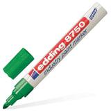 Маркер перманентный для промышленной графики EDDING, 2-4 мм, круглый наконечник, зеленый