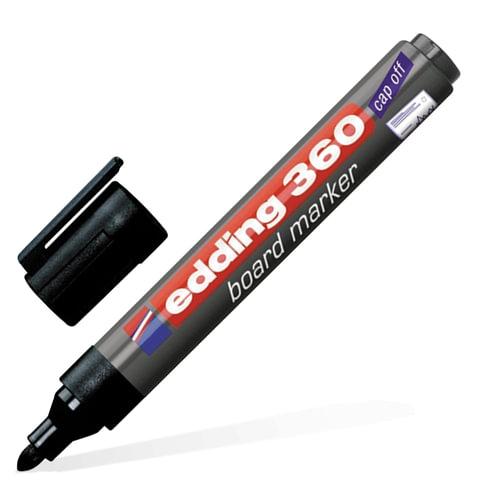 Маркер для доски EDDING, 1,5-3 мм, круглый наконечник, черный