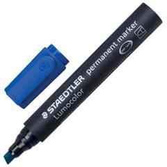 Маркер перманентный (нестираемый) STAEDTLER (Германия) «Lumocolor», скошенный, 2-5 мм, синий