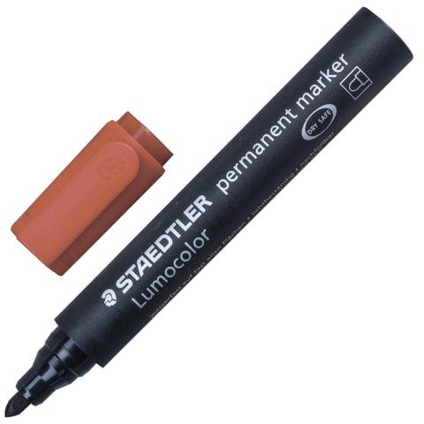 """Маркер перманентный (нестираемый) STAEDTLER (Германия) """"Lumocolor"""", круглый, 2 мм, коричневый"""