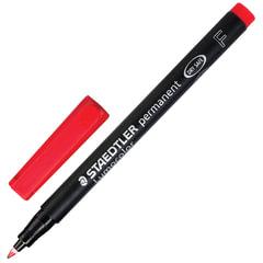 Маркер перманентный (нестираемый) STAEDTLER (Германия) «Lumocolor», круглый, 0,6 мм, красный