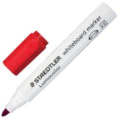 Маркер для доски STAEDTLER (Германия) «Lumocolor», круглый наконечник, 2 мм, красный