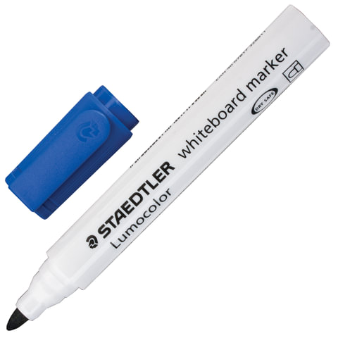 """Маркер для доски STAEDTLER (Германия) """"Lumocolor"""", круглый наконечник, 2 мм, синий"""