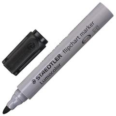 Маркер для флипчарта STAEDTLER (Германия) «Lumocolor», непропитывающий, круглый, 2 мм, черный