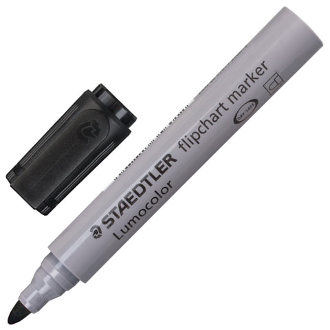 """Маркер для флипчарта STAEDTLER (Германия) """"Lumocolor"""", непропитывающий, круглый, 2 мм, черный"""