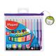 Фломастеры MAPED (Франция) «Color'peps», 12 цв., смываемые, трехгранные, вентилируемый колпачок, пластиковая упаковка, европодвес