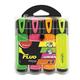 Текстмаркеры MAPED (Франция), набор 4 шт., «Fluo Pep's Classic», скошенный наконечник 1-5 мм (желтый, розовый, оранжевый, зеленый)
