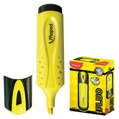 Текстмаркер MAPED (Франция) «Fluo Pep's Classic», скошенный наконечник 1-5 мм, желтый