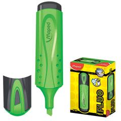 Текстмаркер MAPED (Франция) «Fluo Pep's Classic», скошенный наконечник 1-5 мм, зеленый