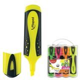 Текстмаркеры MAPED (Франция), набор 4 шт., «Fluo Pep's Soft», скошенный наконечник 1-5 мм (желтый, зеленый, оранжевый, розовый)