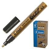 Маркер лаковый PILOT SC-G-M, 2 мм, круглый наконечник, алюминиевый корпус, золотой