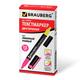 Текстмаркер BRAUBERG (БРАУБЕРГ) двусторонний, скошенный наконечник 1-4 мм, лимонный/<wbr/>розовый
