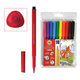 Фломастеры KOH-I-NOOR, 10 цв., школьные, смываемые, трехгранные, пластиковая упаковка, европодвес