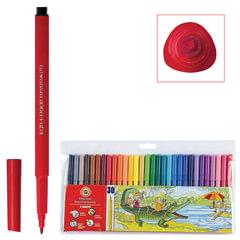 Фломастеры KOH-I-NOOR, 30 цветов, смываемые, трехгранные, пластиковая упаковка, европодвес