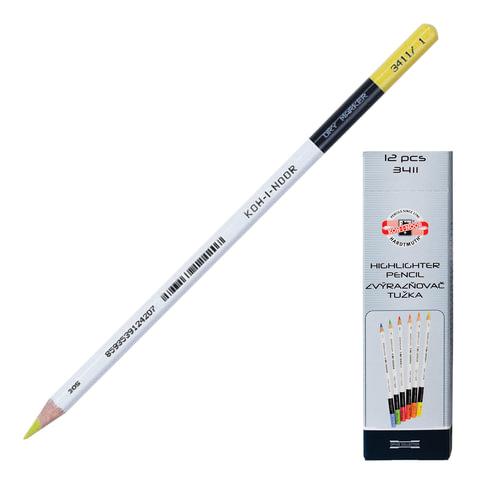 Текстмаркер-карандаш KOH-I-NOOR, сухой, лимонный