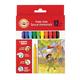 Фломастеры KOH-I-NOOR, 12 цветов, школьные, смываемые, трехгранные, картонная коробка с европодвесом