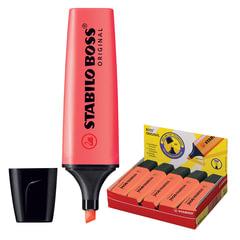 Текстмаркер STABILO «Boss», скошенный наконечник 2-5 мм, красный