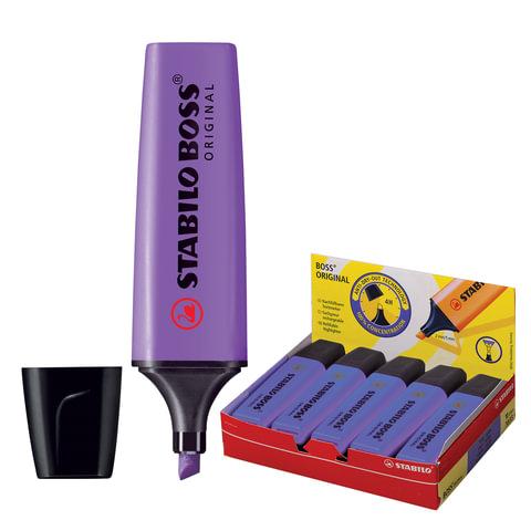 Текстмаркер STABILO «Boss», скошенный наконечник 2-5 мм, фиолетовый