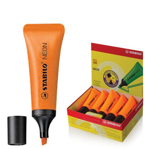 Текстмаркер STABILO «Neon», скошенный наконечник 2-5 мм, оранжевый