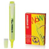 Текстмаркер STABILO «Swing cool», скошенный наконечник 1-4 мм, карманный клип, желтый