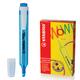 Текстмаркер STABILO «Swing cool», скошенный наконечник 1-4 мм, карманный клип, голубой