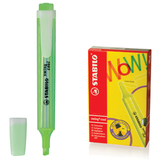 Текстмаркер STABILO «Swing cool», скошенный наконечник 1-4 мм, карманный клип, зеленый